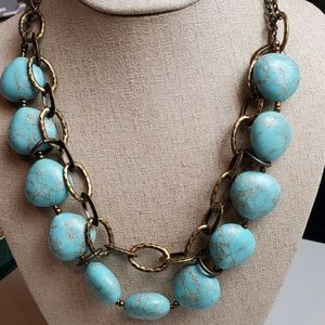 Premier designs necklace With faux turquoise